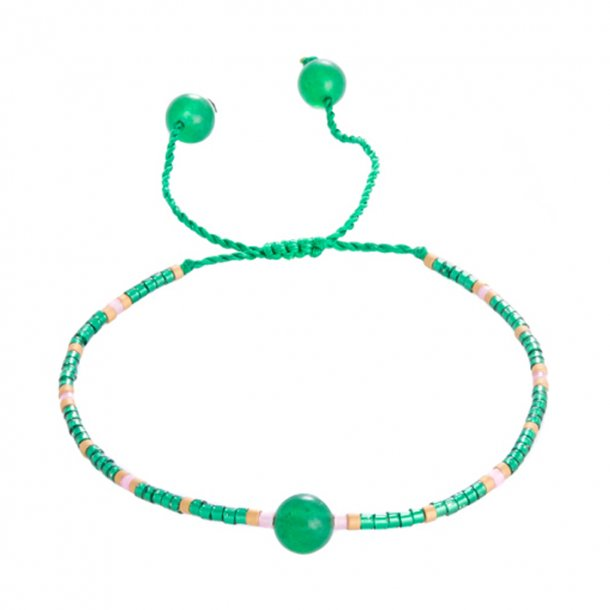 Armbånd, Grøn m. perle